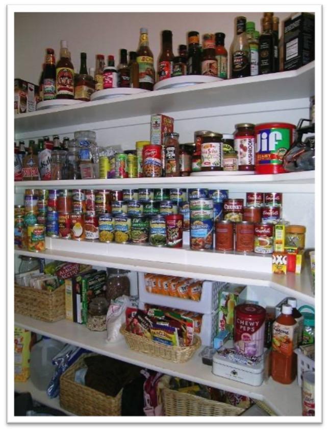 Photo Organized Pantry